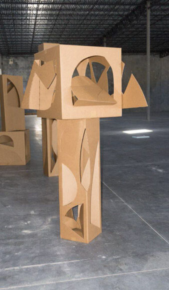 Structure series. Cardboard, variable measurements. *Can be made in iron and/or stainless steel.